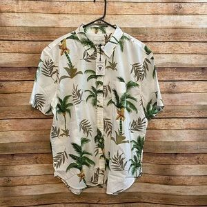 NWT Lucky Brand Saturday Stretch Floral Shirt XL